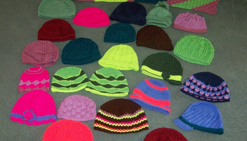 crochet for cancer hats