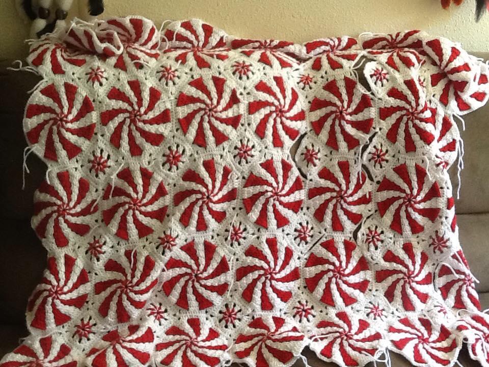 Crochet Pattern For Peppermint Afghan : Feelin the Peppermint Afghan ? Feelin Crafty Yarnworks