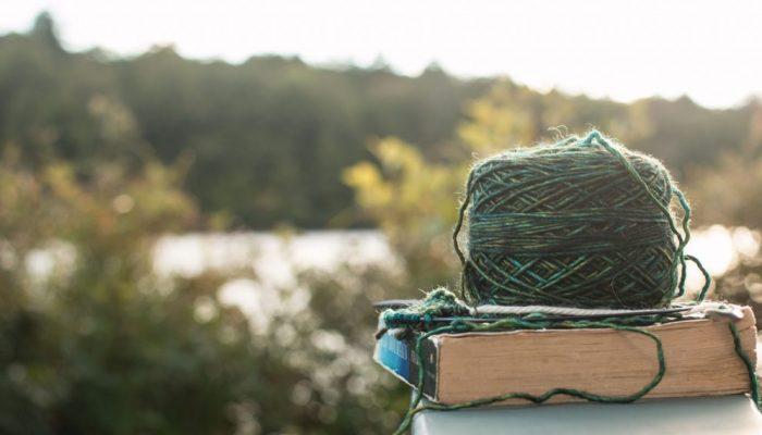 hand dyed yarn landscape