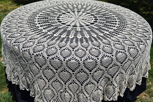pineapple crochet tablecloth