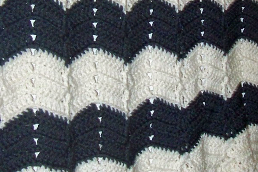 wave blanket closeup