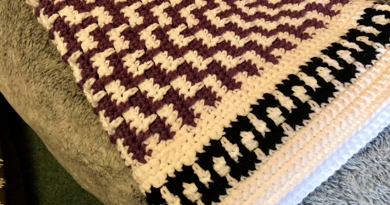 Geometric Crochet Blanket Pattern (review)